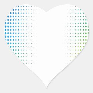El tono medio colorido puntea los estilos de colcomanias corazon personalizadas