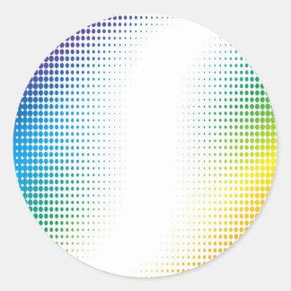 El tono medio colorido puntea los estilos de pegatina redonda