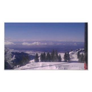 El top de la montaña Nevado pasa por alto Impresiones Fotograficas