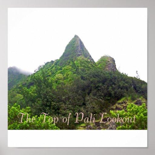 El top del puesto de observación de Pali Póster