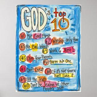 El Top Ten de dios Póster