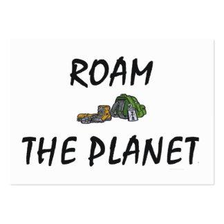 El TOP vaga por el planeta Plantilla De Tarjeta De Negocio