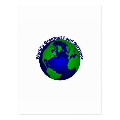 El topógrafo más grande de la tierra del mundo tarjetas postales