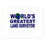 El topógrafo más grande de la tierra del mundo postales