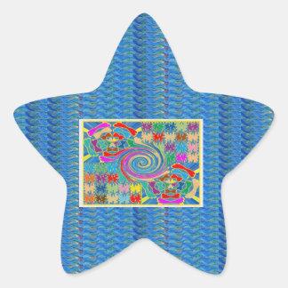 El torbellino agita los gráficos decorativos calcomanías forma de estrellas