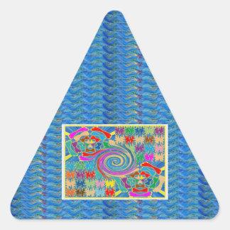El torbellino agita los gráficos decorativos calcomanías trianguloes personalizadas