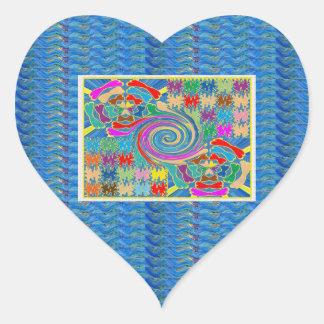 El torbellino agita los gráficos decorativos calcomanías de corazones
