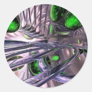 El torcer en espiral de extracto del control pegatina redonda