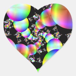 El torcer en espiral hacia adentro pegatina en forma de corazón