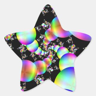 El torcer en espiral hacia adentro pegatina en forma de estrella