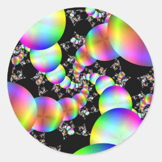 El torcer en espiral hacia adentro pegatina redonda