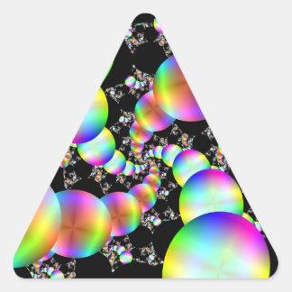 El torcer en espiral hacia adentro pegatina triangular
