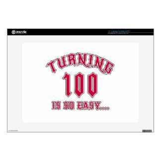 El torneado de 100 es cumpleaños tan fácil skins para 38,1cm portátil