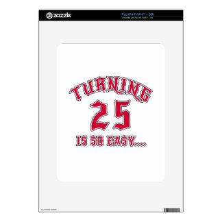 El torneado de 25 es cumpleaños tan fácil skins para eliPad