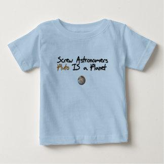 El tornillo Astonomers… Plutón es un planeta Playera De Bebé
