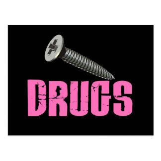 El tornillo droga rosa tarjeta postal