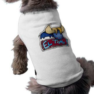 ¡EL Toro! Camiseta del perro Playera Sin Mangas Para Perro
