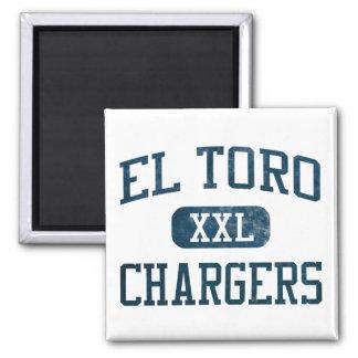 El Toro Chargers Athletics 2 Inch Square Magnet