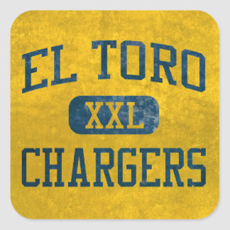 El Toro Chargers Athletics Square Sticker
