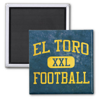 El Toro Chargers Football 2 Inch Square Magnet