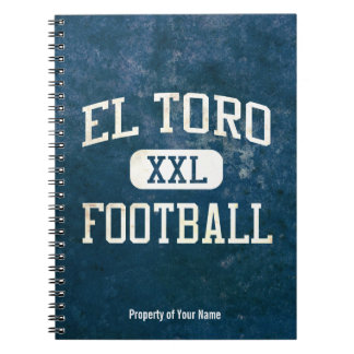 El Toro Chargers Football Spiral Notebook