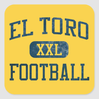 El Toro Chargers Football Square Sticker