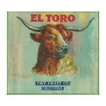 El Toro Orange Label Canvas Prints
