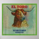 El Toro Orange Label Poster