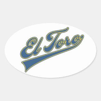 El Toro Script Oval Sticker