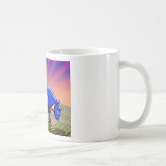el toro taza básica blanca