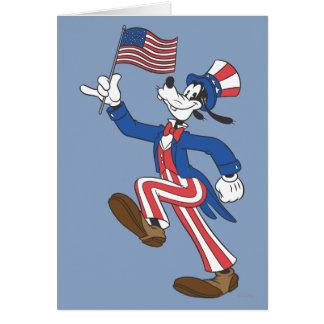 El | torpe patriótico tarjeta de felicitación