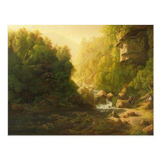 El torrente de la montaña, c.1820-30 (aceite en tarjetas postales