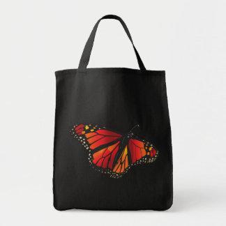 El tote de la mariposa de monarca bolsa tela para la compra