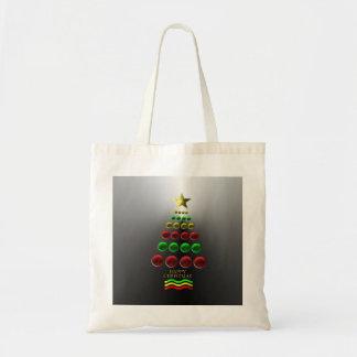 El tote de las chucherías del árbol de navidad vis bolsa tela barata
