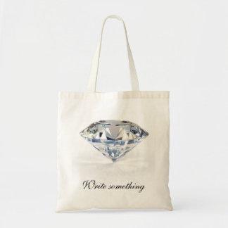 El tote del papel de regalo del diamante elige tam bolsa tela barata