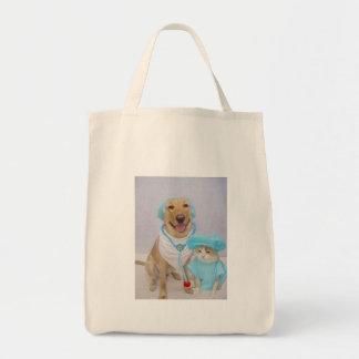 El tote del veterinario bolsa tela para la compra