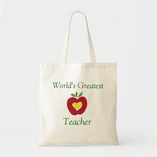 El tote más grande del profesor del mundo bolsa de mano
