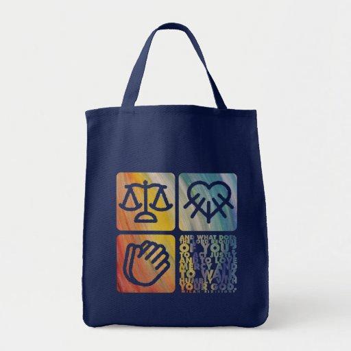 El tote que hace compras de tres cosas bolsas lienzo