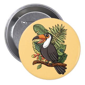 El Toucan feliz Pin Redondo 7 Cm