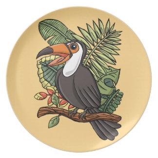 El Toucan feliz Plato Para Fiesta