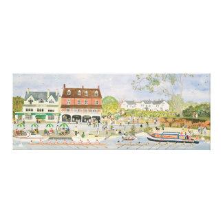 El Towpath Walton-en-Thames Impresión En Tela