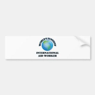 El trabajador de la ayuda internacional más pegatina para coche