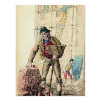 El trabajador del albañil postal