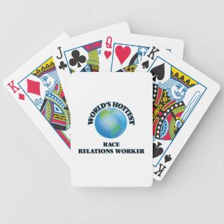 El trabajador más caliente de las relaciones barajas de cartas
