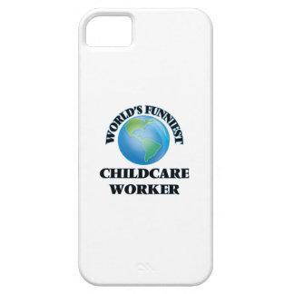 El trabajador más divertido del cuidado de niños iPhone 5 Case-Mate coberturas