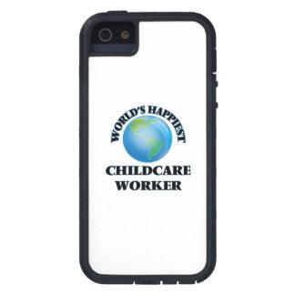 El trabajador más feliz del cuidado de niños del iPhone 5 Case-Mate carcasas