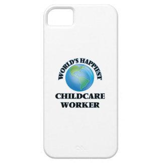 El trabajador más feliz del cuidado de niños del iPhone 5 carcasa