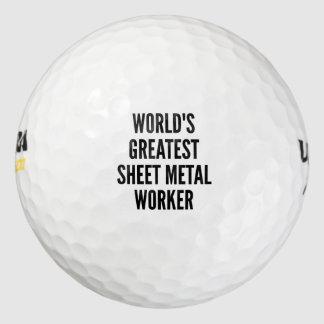 El trabajador más grande de la chapa de los mundos pack de pelotas de golf