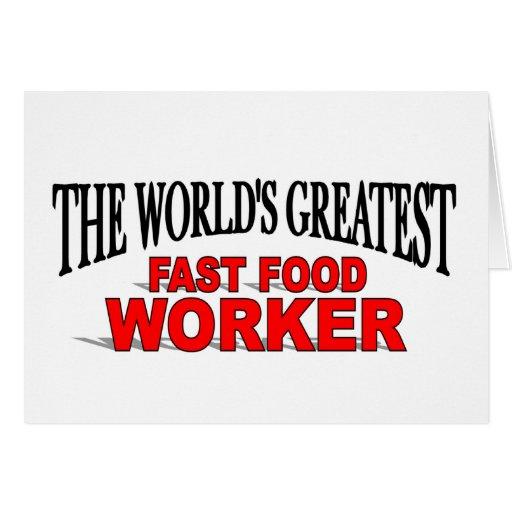 El trabajador más grande de los alimentos de prepa tarjetón