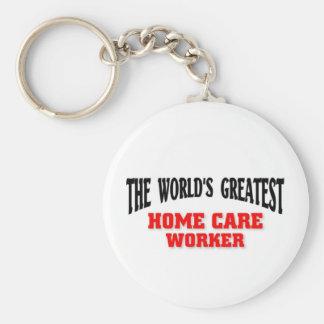 El trabajador más grande de los cuidados en casa llavero